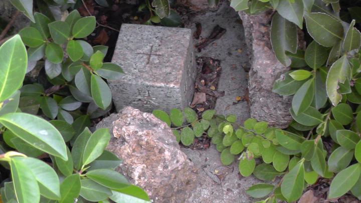 三角点の基準となる柱石