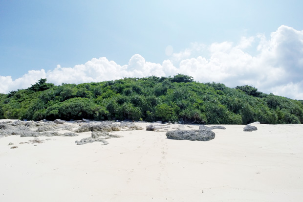 長間浜 来間島