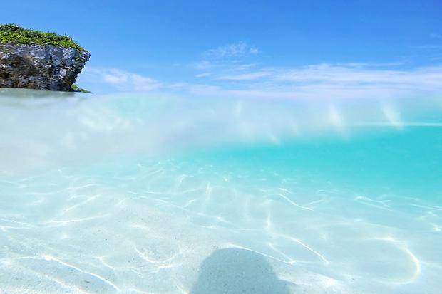 砂山ビーチ砂の波紋