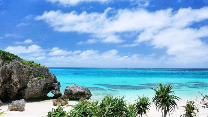 ハート岩のあるイキヅービーチ